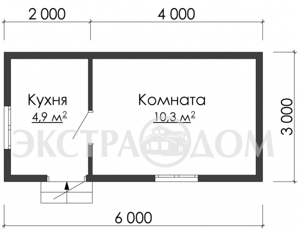 Бытовка 3610 ДК ( 3,0 х 6,0 )