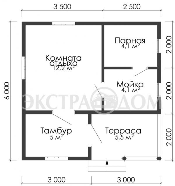 Баня 663 ( 6,0 х 6,0 )